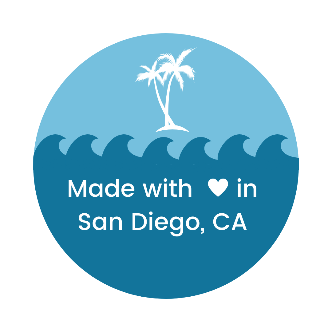 Made with love in San Diego, CA